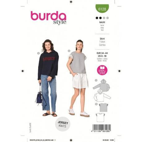 Patron Burda 6128 Sweat-shirt 34/44