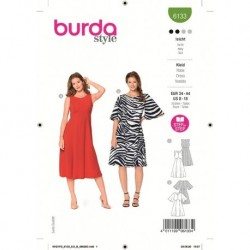 Patron Burda 6133 Robe 34/44