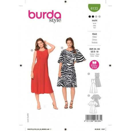 Patron Burda 6133 Robe 34/44