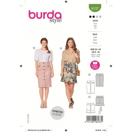 Patron Burda 6137 Jupe 34/44
