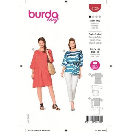 Patron Burda 6139 Robe 34/44