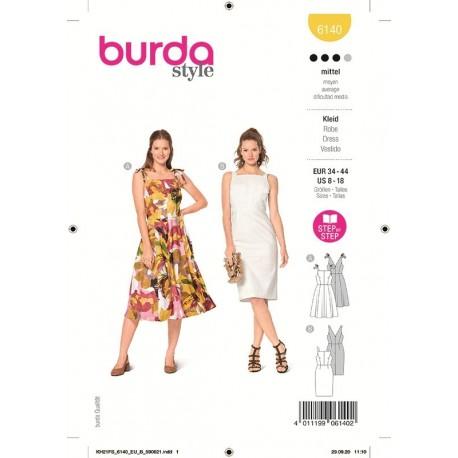 Patron Burda 6140 Robe 34/44