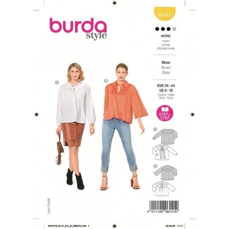 Patron Burda 6141 Blouse 34/44