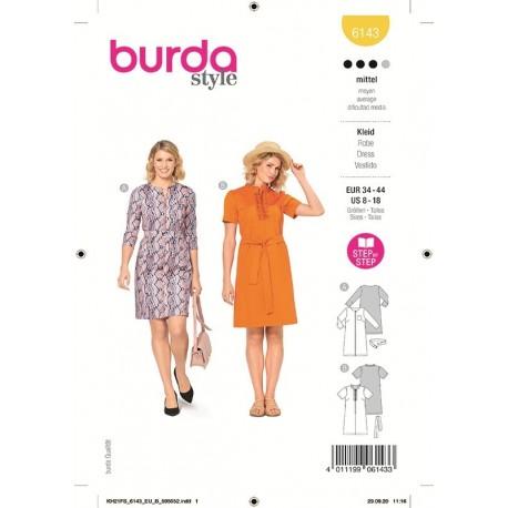 Patron Burda 6143 Robe 34/44