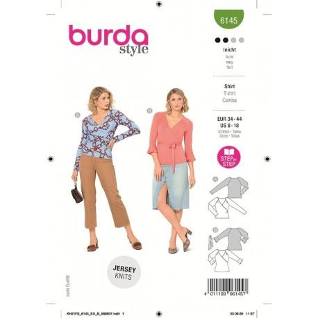 Patron Burda 6145 Top Croise 34/44