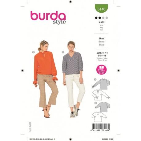 Patron Burda 6146 Blouse 34/44