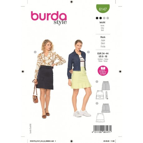 Patron Burda 6147 Jupe 34/44