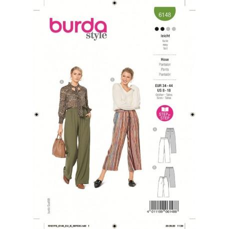 Patron Burda 6148 Pantalon 34/44