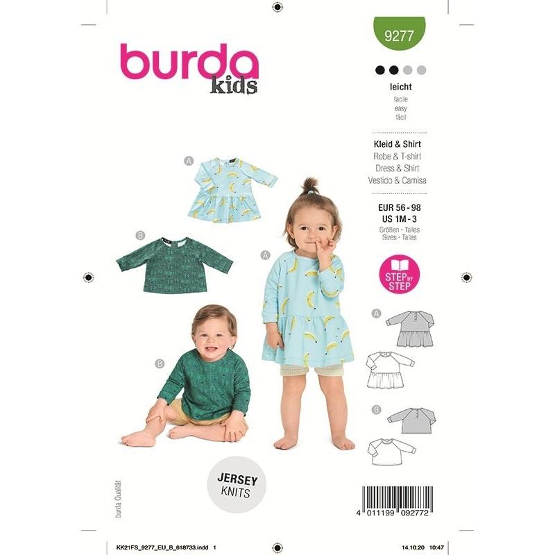 Patron Burda 9277 Baby Robe/t-shirt 56/98