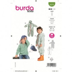 Patron Burda 9279 Kids Combinaison/chapeau 86/110