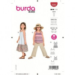 Patron Burda 9280 Kids Robe/top 104/140