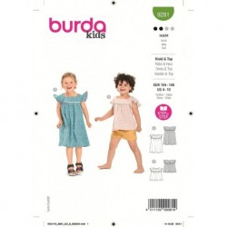 Patron Burda 9281 Kids Robe/top 104/140