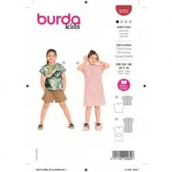 Patron Burda 9282 Kids T-shirt/robe 104/140