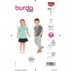 Patron Burda 9283 Kids T-shirt 92/122