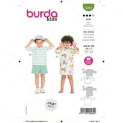 Patron Burda 9284 Kids T-shirt/robe 92/122
