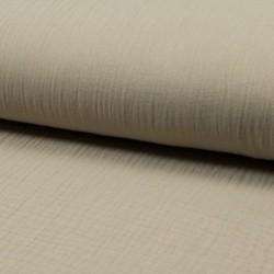 Tissu Double Gaze Uni Sable