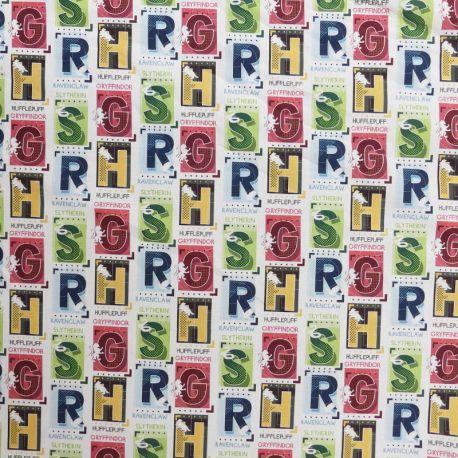 Tissu Popeline Harry Potter Imprimé Multicolore