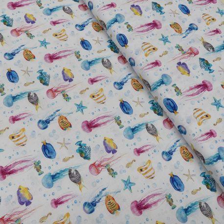 Tissu Sunny Imprimé Bio Poisson