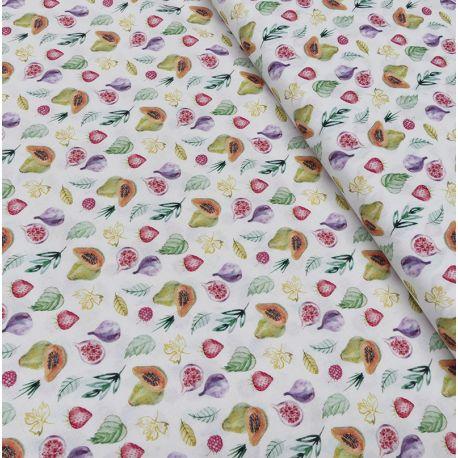 Tissu Sunny Imprimé Bio Fruit