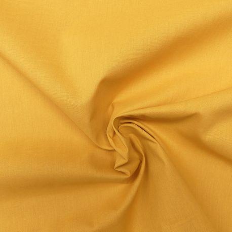 Tissu Popeline Uni Bio Moutarde