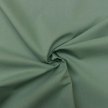 Tissu Popeline Uni Bio Jade