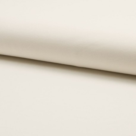 Tissu Jersey Coton Bio Uni Blanc
