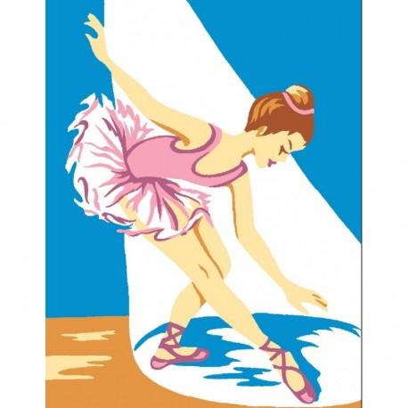Kit Canevas Enfant Blanc Danseuse