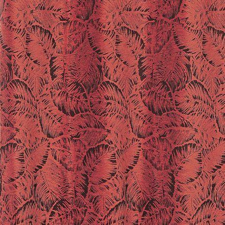 Tissu Borneo Jacquard Chenillé Rouge