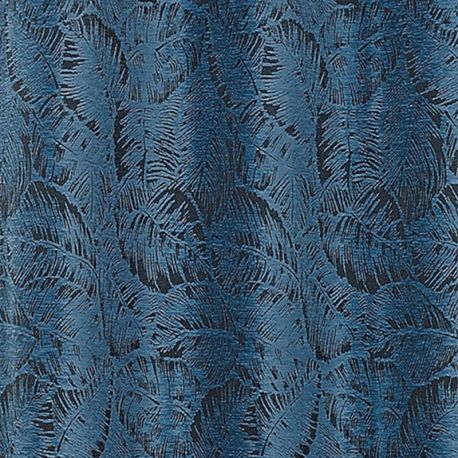 Tissu Borneo Jacquard Chenillé Bleu