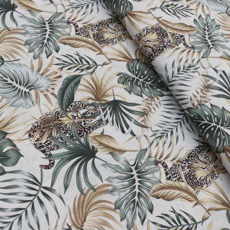 Tissu Popeline Tropic Imprimé Leopard