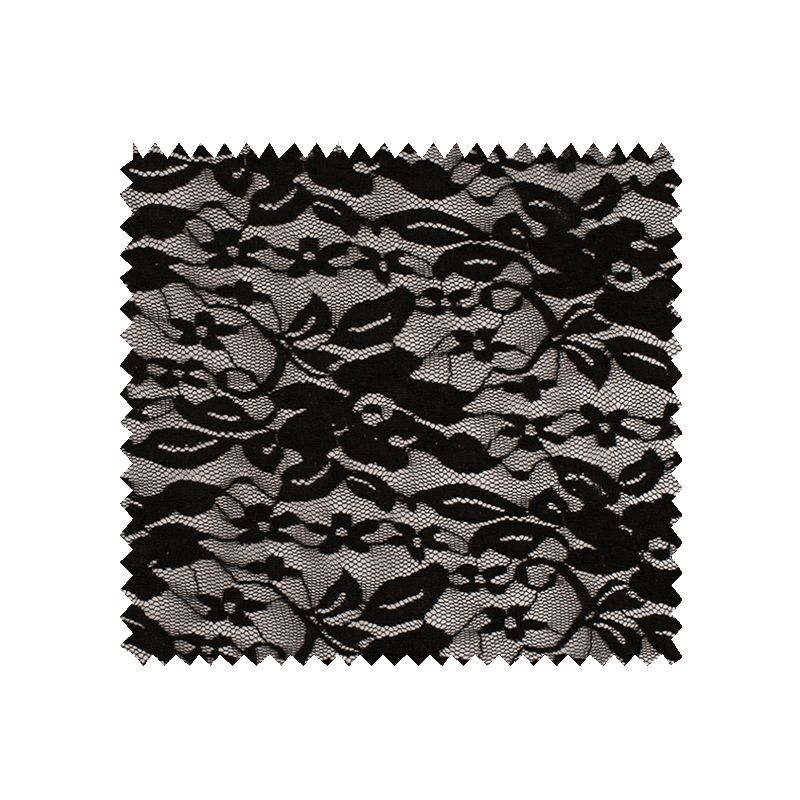 Tissu Fiona Dentelle Noir