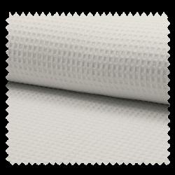 Tissu Nid d'Abeille Uni Blanc