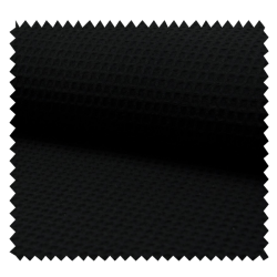 Tissu Nid d'Abeille Uni Noir