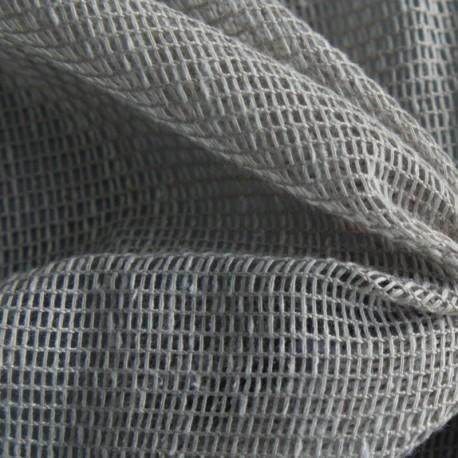 Tissu Origina Filet Uni Gris Mineral