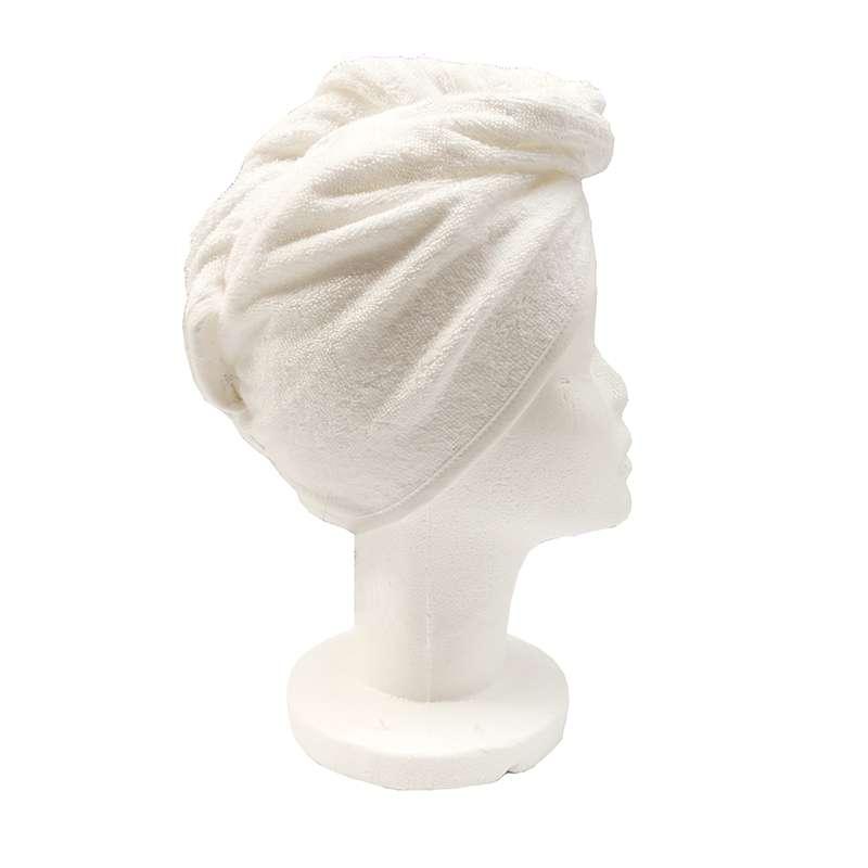 Serviette Sèche Cheveux Laura Blanc