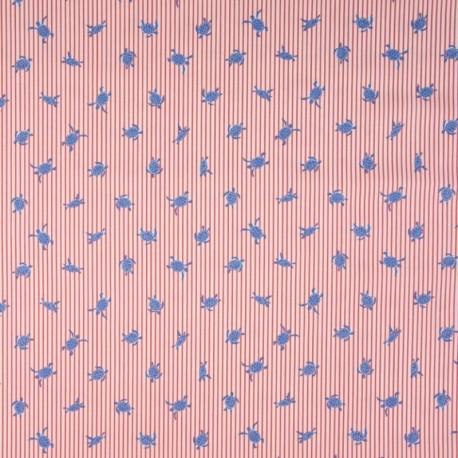 Tissu Coton Imprimé Tortue Rouge