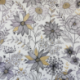 Tissu Daisygold Bachette Blanc noir or