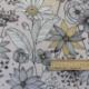 Tissu Daisygold Bachette Rose or