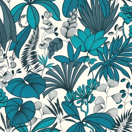 Tissu Lombok Bachette Bleu Canard