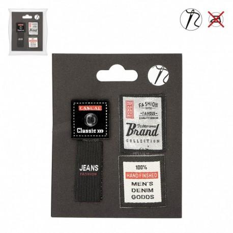 Ecusson Etiquettes Timbre X4