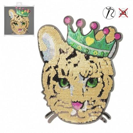 Xl Ecusson Tigre King 24x30,5cm