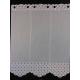 Brise Bise Etamine Blanc Gris Hauteur 120 cm