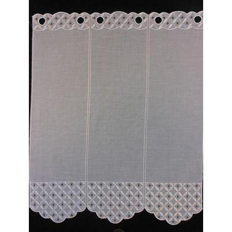 Brise Bise Etamine Blanc Gris Hauteur 60 cm