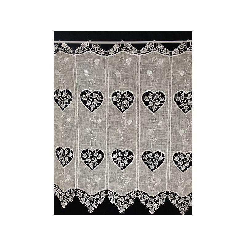 brise bise coeur hauteur 88 cm tissus des ursules. Black Bedroom Furniture Sets. Home Design Ideas