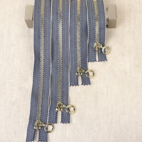 Fermeture Jeans Femme Non Séparable Maille Metal