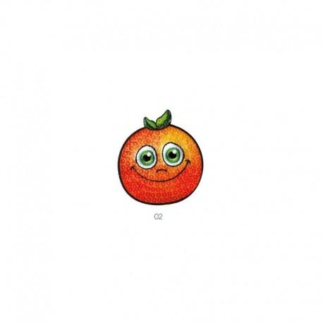 Ecusson Fruits Avec Yeux Orange