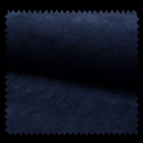 Tissu Veloutine Unie Navy