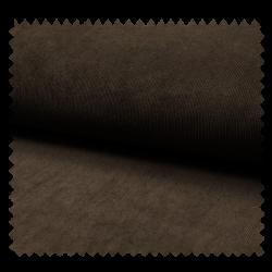 Tissu Veloutine Unie Marron