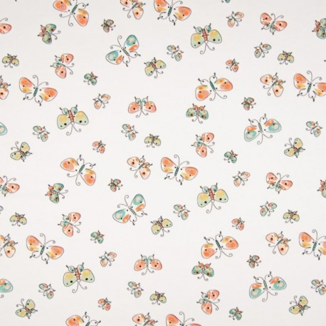 Tissu Jersey Imprimé Papillon Brillant