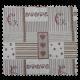Tissu Jacquard Gap Patch Coloris Lin Rouge